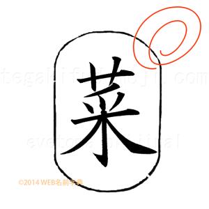 【5つのポイント】 5.字形が整ってきて、そこからさらに文字をよくするためには、書線を鍛える。そして細部をおろそかにしない。